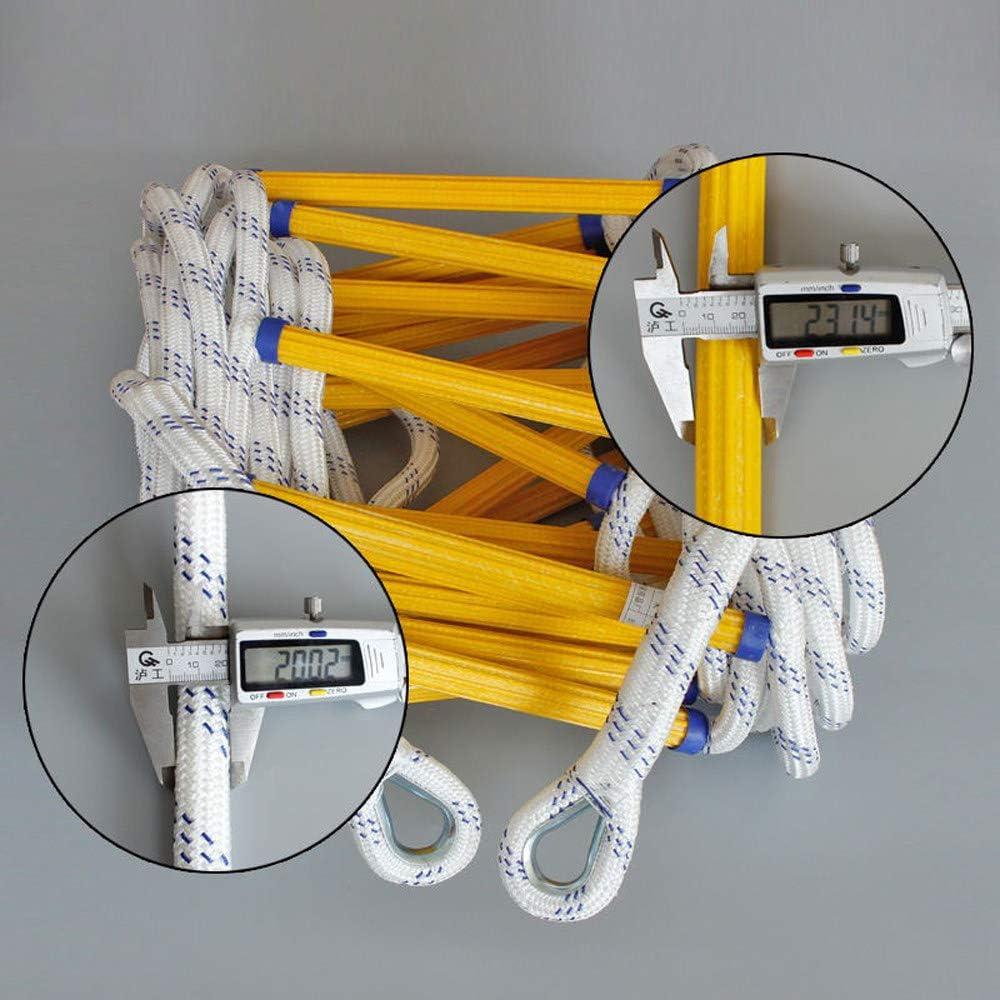 3-4-st/öckige H/äuser Flammwidrige Notbrandsicherheits-Evakuierungsleiter mit Karabinerhaken f/ür Kinder und Erwachsene ZHANGDAN Feuerleiter Traggewicht 420 kg,10m//32ft