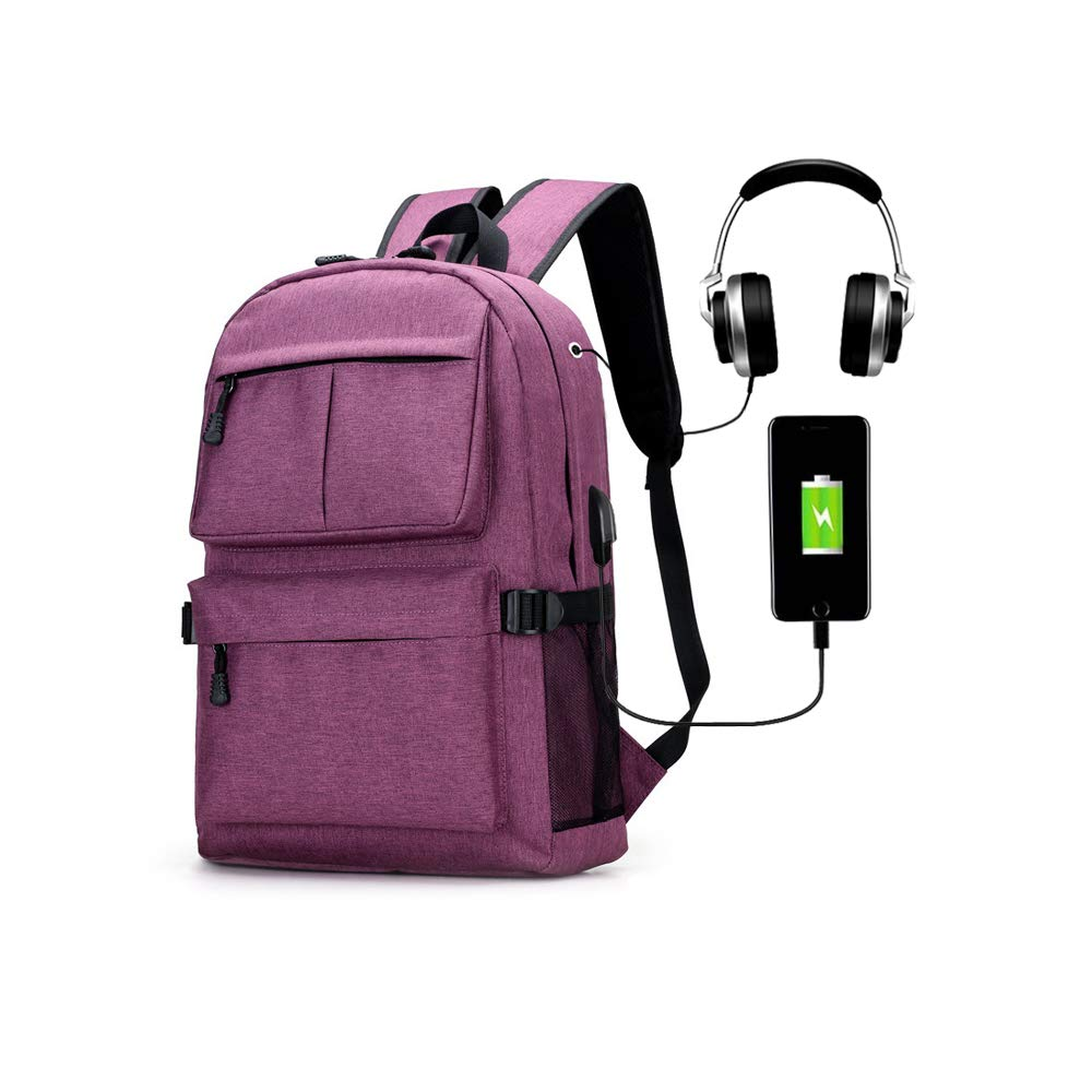 Laptop Backpack 15.6 Inch Capacity College Backpack USB Charging and Headphone Port Travel Backpack