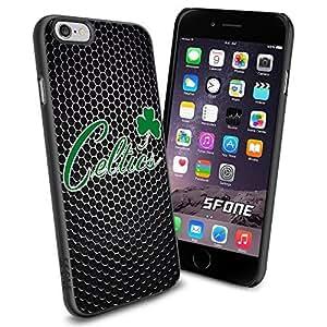 Boston Celtics Logo Black Net iphone 4 4s inch Case Black Rubber Cover Protector