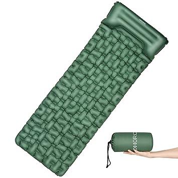 OMORC Esterilla Inflable Acampada, 199x70x7cm Colchoneta Impermeable con Almohada, Portátil para Senderismo Acampada Camping Excursión, Esterilla ...