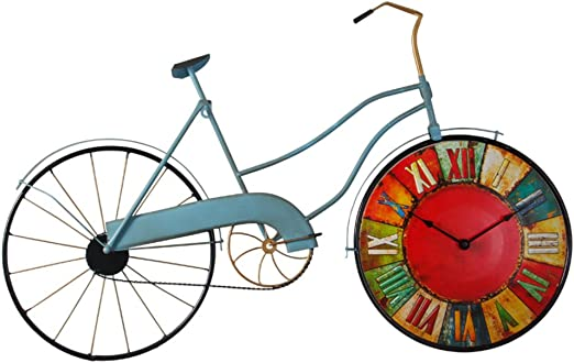 HYXL 12 Pulgadas Vendimia Metálico 100% Bicicleta Reloj de Pared ...