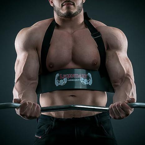 Brazo Blaster - perfecto Builder para brazos - Bomber aislador bíceps y tríceps rizos - levantamiento de pesas gimnasio almohadillas de agarre - vídeo y ...