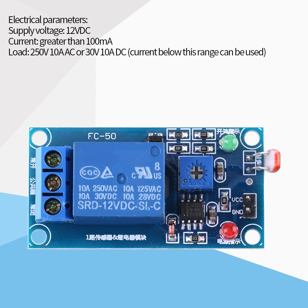 12v Stable Light Sensor Switch Ldr Photoresistor Relay Module For Beginners In Electronics Controler Home Improvement