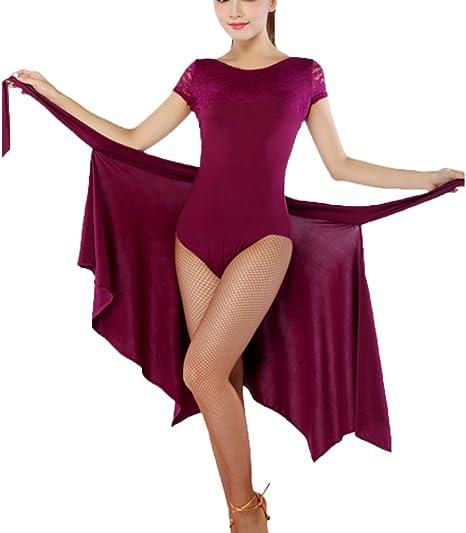 Rongg Falda de Baile Latino para Mujeres Traje de Baile Latino ...