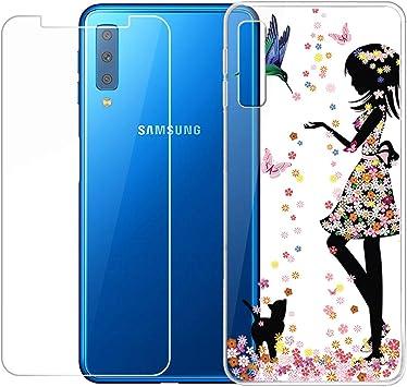 QFSM Samsung Galaxy A7 2018 Funda Silicona Carcasa TPU Case Cover ...