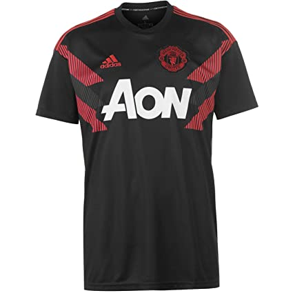 ce9a1abbe adidas Manchester United FC 2018 19 Home Pre Match Short Sleeve Jersey -  Adult -