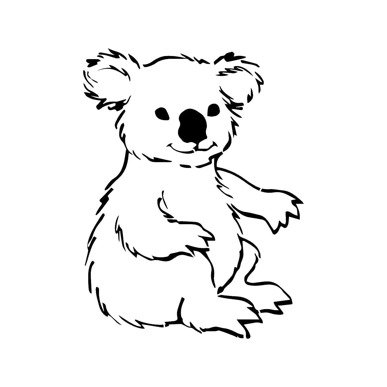 Koala Bear Stencil Template - Plantilla Reutilizable con múltiples ...