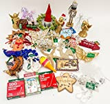 JZ Bundles Starter Set - Best of Christmas Option A - Kurt Adler - 34-Piece Bundle - A Bundle of Christmas Ornaments Great Gift