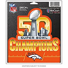 Denver Broncos Official NFL Super Bowl 50 Champions Decal by Wincraft 450272