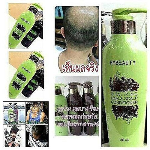 4 Sets Hybeauty Vitalizing Hair & Scalp Shampoo and Conditioner 300 ml.with tracking & gift by Hybeauty (Image #6)