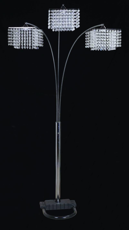 H.p.p 84''H Light Crystal Inspirational Arch Floor Lamp