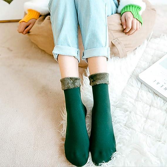 Calcetines de felpa T/érmicos de Invierno Bordado Lindo Super Calor Gruesa Calentar Suave C/ómodo Calcetines de Mujer Antideslizantes C/álido Calcetines con suela Gruesos Lana Zapatilla Calcetin