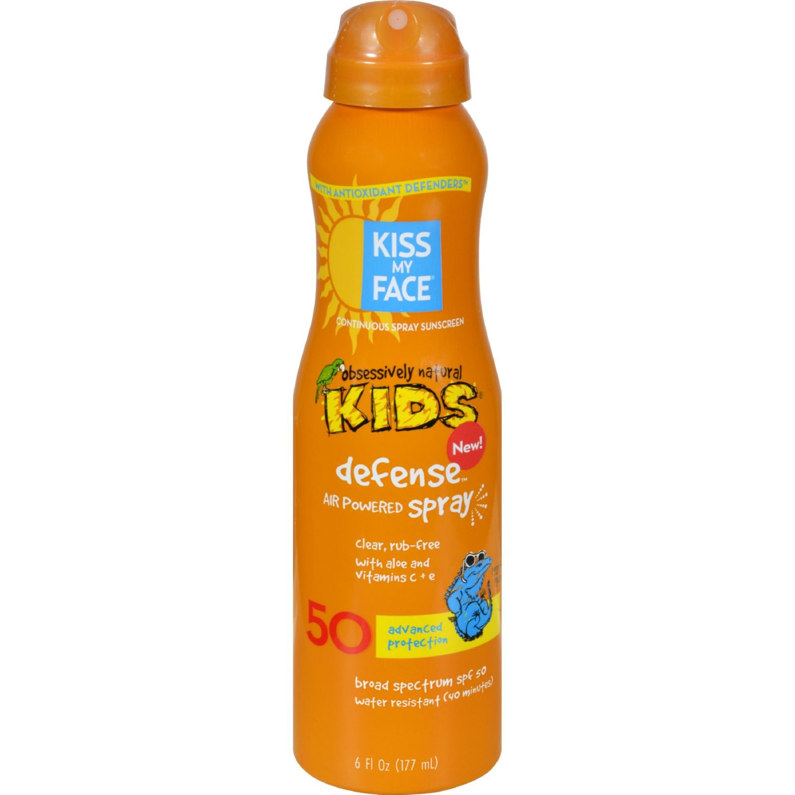 Kiss My Face Kids Defense Spray - Any Angle Air Power SPF 50 - 6 oz (Pack of 4)