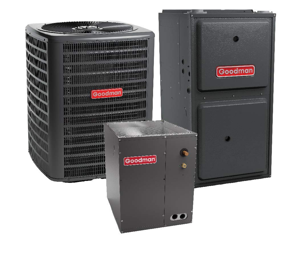 Goodman 3.5 Ton 14 SEER Air Conditioner GSX140431 Coil CAPF4961C6 80,000 BTU 96/% AFUE Upflow Gas Furnace GMSS960804CN