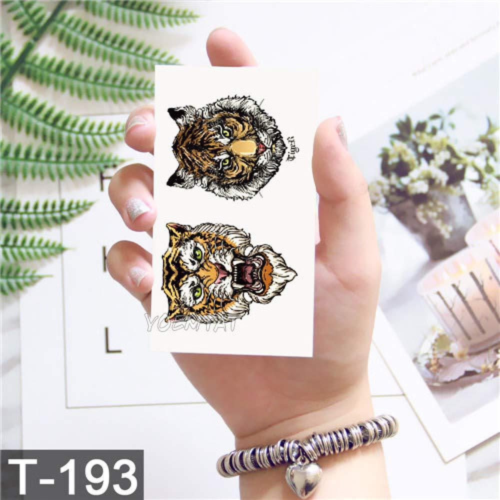 tzxdbh 3Pcs-Sketch Moth Tigre patrón Tatuaje Etiqueta engomada ...