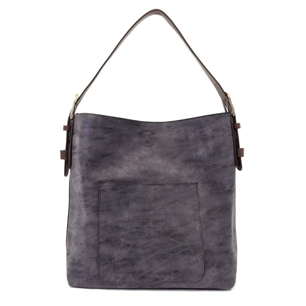 Navy Brown Joy Susan Classic Hobo Handbag
