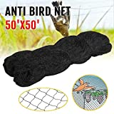 Yaheetech 50' X 50' Net Netting for Bird Poultry Aviary Game Pens Black 2.4'' Square Mesh Size
