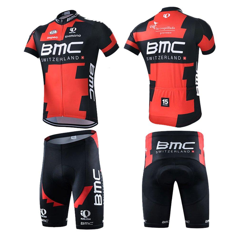 Mengku Outdoor Sports Pro Team Men s Short Sleeve BMC Cycling Jersey and  Bib Shorts Set 35897da9d