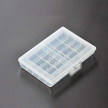 Caja de Soporte de batería de 1 Pieza para Cargar 10 Pilas AA AAA Cubierta de Caja de Almacenamiento de plástico Duro para Caja de batería No.5 / No.7: Amazon.es: Electrónica