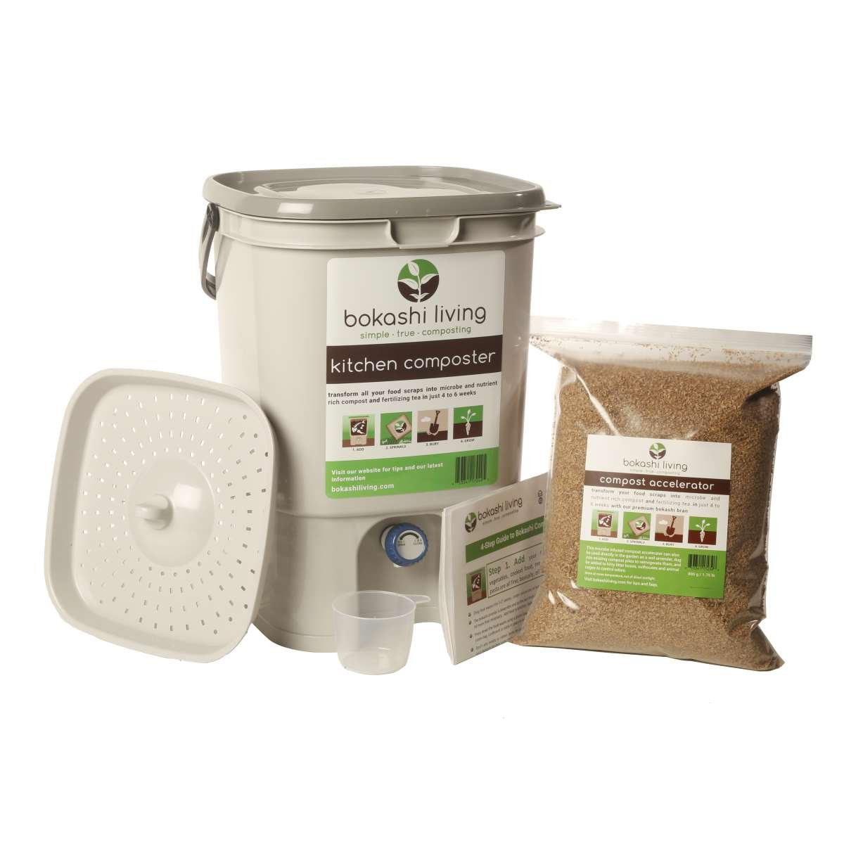 1 Papelera Bokashi Compost Starter Kit (incluye 1 Bokashi ...