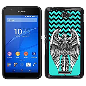 Dragon Case - FOR Sony Xperia E4 - No cross no crown - Caja protectora de pl??stico duro de la cubierta Dise?¡Ào Slim Fit