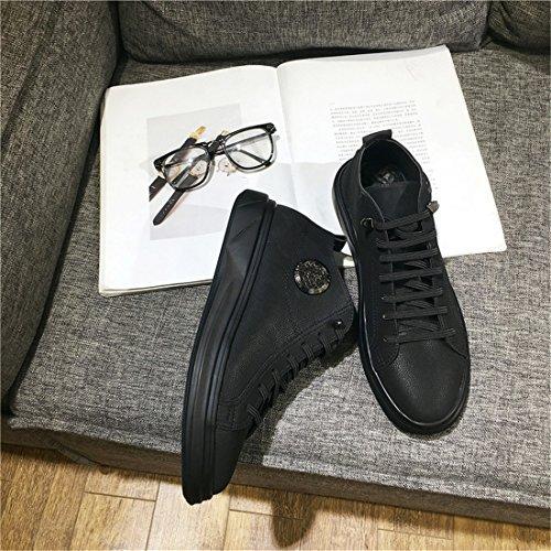 Mens Sport En Plein Air Running Chaussures De Marche Légères Sneakers Occasionnels W2828 Noir