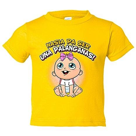 Camiseta niño nacida para ser una Palanganas Sevilla fútbol - Amarillo, 3-4 años