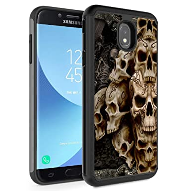 Galaxy J7 2018/J7 Refine/J7 Star/J7 TOP/ J7 Aero/J7 Eon Case,Rossy Hybrid TPU Plastic Dual Layer Armor Defender Protection Case for Samsung Galaxy J7 ...