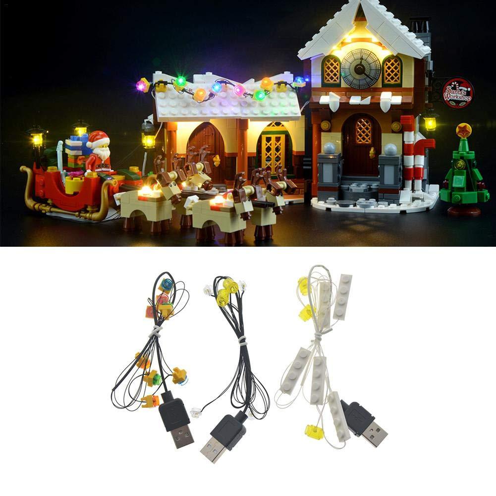 Kit d'éclairage LED, DIY parties lumineuses de blocs de construction, jeu d'éclairage LED, pour LEGO 10245Noël blocs LED Street View Lighting City (modèle non inclus)