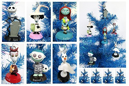 (Nightmare Before Christmas Bobble Head Holiday Christmas Ornament Set - Unique Shatterproof Plastic Design by Holiday Ornaments)