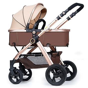 ERRU- Cochecito de bebé / de dos vías puede estar sentado ultra-ligero plegable plegable de cuatro ...