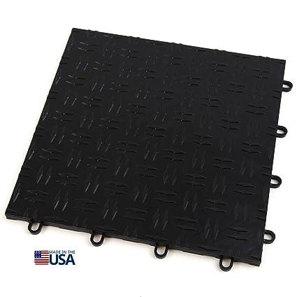 Incstores 12in X12in Grid Loc Garage Flooring Tiles 12 Tile Pack