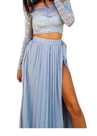 CANDLLY Faldas de Fiesta Mujeres Elegante Playa Faldas de Gasa ...