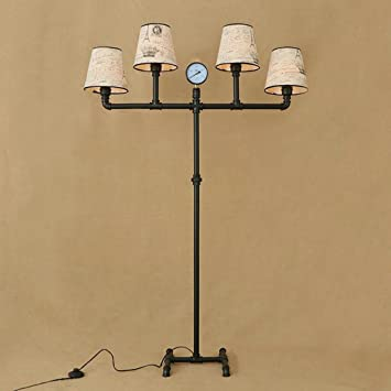 Fafz Lampes De Chevet Retro En Fer Forge Salon Etude Verticale Tuyau