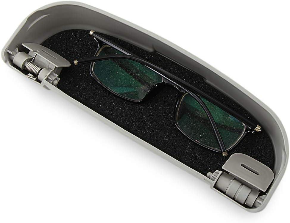 RelaxToday Car sunglasses case glasses storage box car glasses special case,For Ford Mustang Ranger Figo KA Territory FLEX Transit Super Duty Atlas F-150 F250 F350 F450