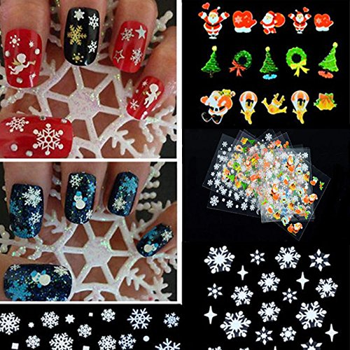 12pcs Christmas Collection Nail Arts - 7