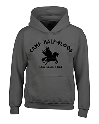 Amazon.com: Shop4Ever Camp Half Blood Demigods Hoodies Long Island ...