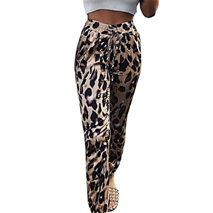 083d6af0469c7 Amazon.com: BOLUOYI Plus Size Capris Women's Leopard Print Workout Leggings  Fitness Slim Pencil Pants Khaki M: Toys & Games
