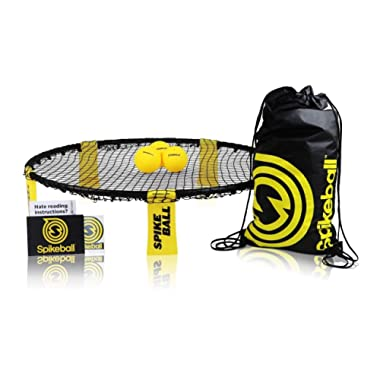 Spikeball Game Set (3 Ball Kit) - Includes Playing Net, 3 Balls, Drawstring Bag, Rule Book