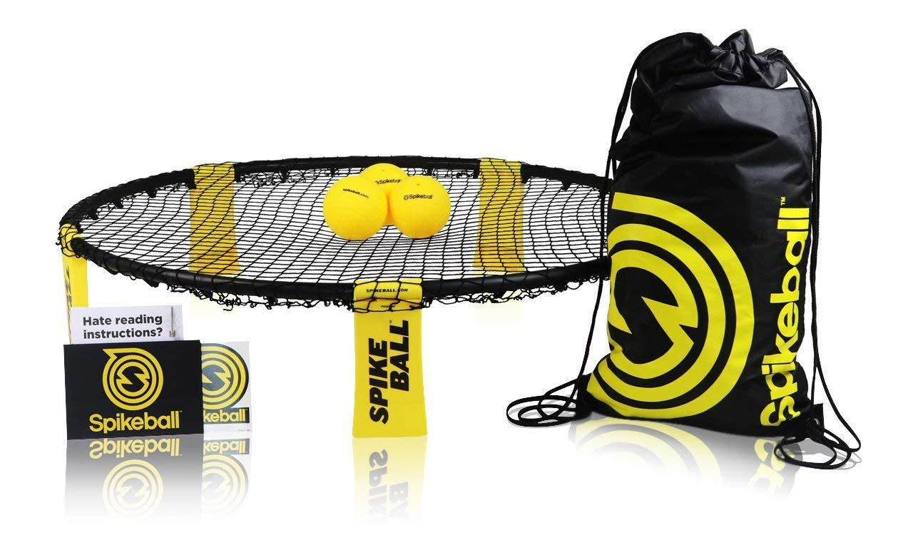 Spikeball Game Set (3 Ball Kit) - Outdoor Indoor Gift for Teens, Family - Yard, Lawn, Beach, Tailgate - Includes Playing Net, 3 Balls, Drawstring Bag, Rule Book- As Seen on Shark Tank product image