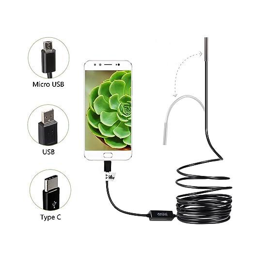 99 opinioni per Shekar 5,5 mm 3.5M Semirigido Android Telecamera d'Ispezione Endoscopio da 2 in