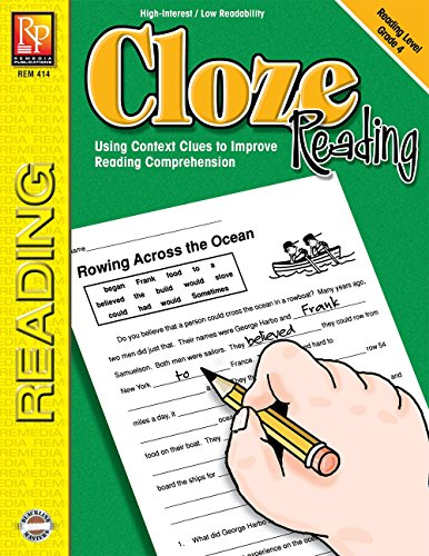 Cloze Reading (Reading Level 4) | Reproducible Activity Book (Cloze Reading Comprehension)