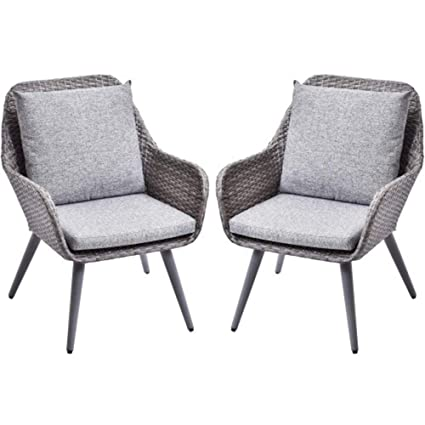 Miraculous Amazon Com D Yun Outdorr Wicker Dining Chairs Pe Rattan Pabps2019 Chair Design Images Pabps2019Com