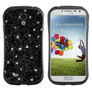 Suave TPU GEL Carcasa Funda Silicona Blando Estuche Caso de protección (para) Samsung Galaxy S4 I9500 / CECELL Phone case / / Stars Ink Pen Art Night Sky Black White /