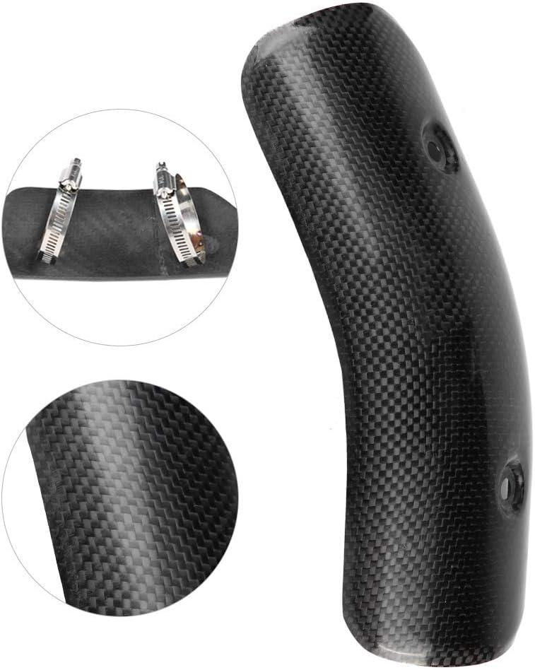 Cubierta de escape de la motocicleta 51-60 mm Escape de la fibra de carbono de la motocicleta Tubo del medio Escudo t/érmico Protector del tubo Protector de la cubierta #2