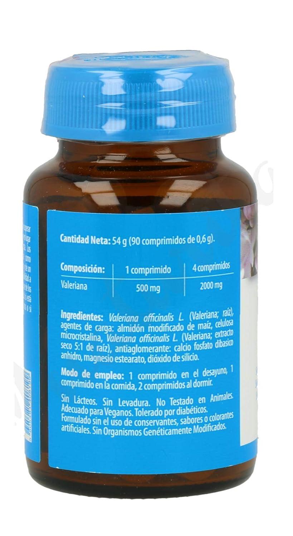 Naturmil Valeriana 180 comprimidos 500 mg pack (90+90), sin azúcar, sin lactosa, sin gluten, sin soja, apto para veganos, favorece la relajación, ...