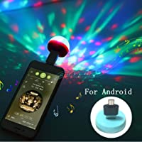 Mobile Stage Lights Mini LED Crystal Magic Ball Colorful Sound Control Lights for Android
