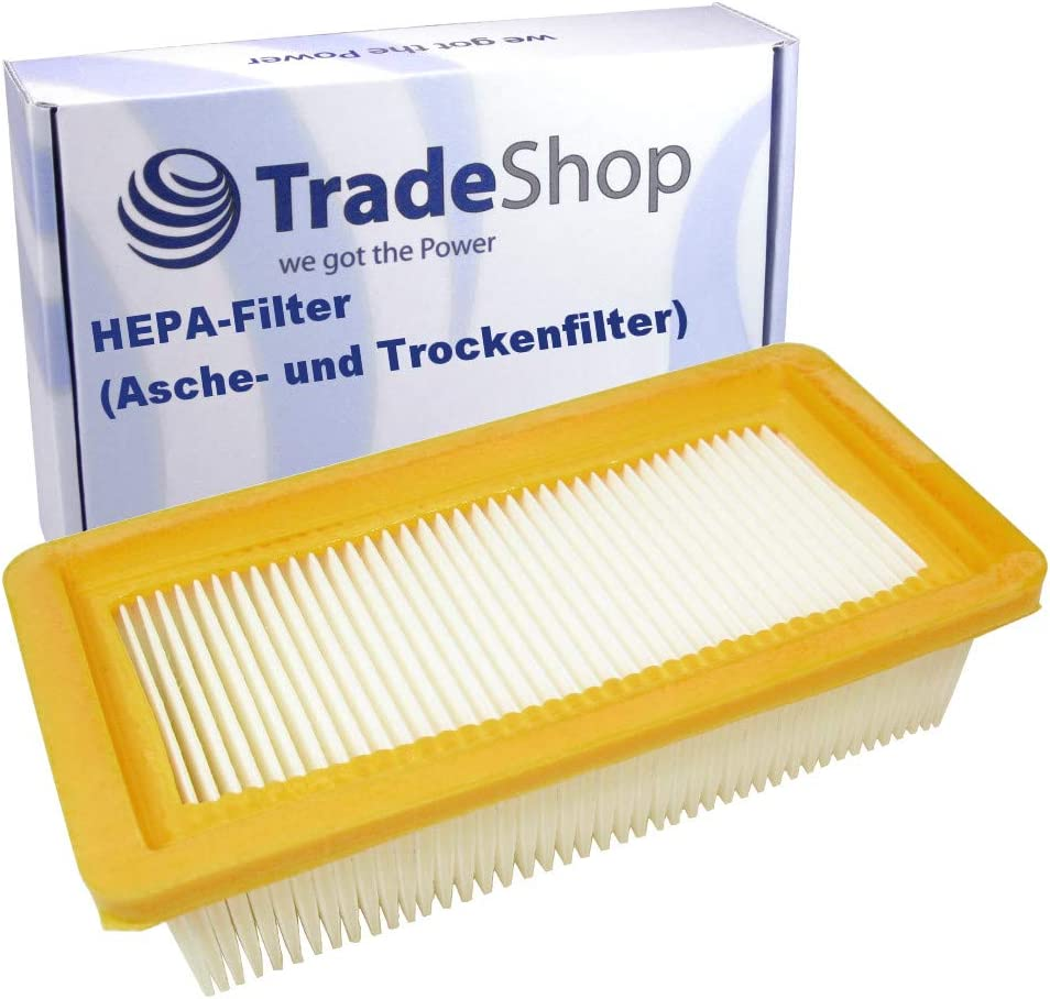 2x HEPA-Flachfalten-//Lamellenfilter für Kärcher  Fireplace Vac AD 3.200 GB