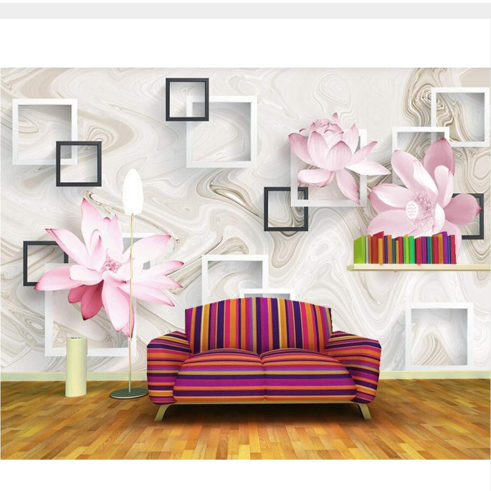 Meaosy modern aesthetic box lotus 3d wallpaper living room sofa tv backdrop bathroom bedroom wall papers home decor 200x140cm amazon com