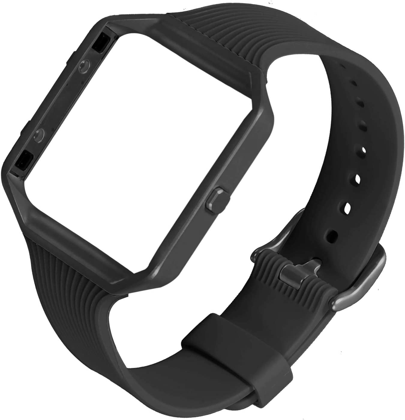 No Tracker Soft Slim Sport Silicone Replacement Wristband Compatible with Fitbit Blaze Bracelet for Women Men ESeekGo Compatible with Fitbit Blaze Bands with Metal Frame